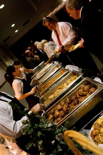 caterers serving food