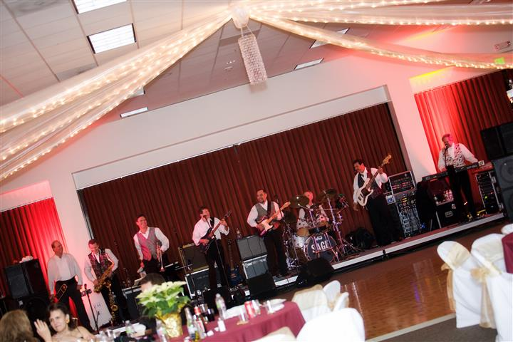 band on stage playing