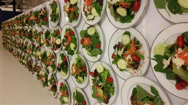 table of salads