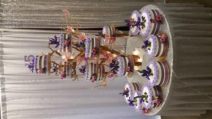 cake tree with multiple cakes