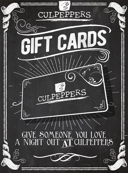 chalk board gift card
