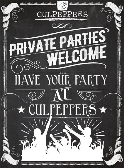 private parties welcome