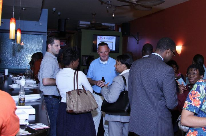 People networking at Caribbean Business Networking Event