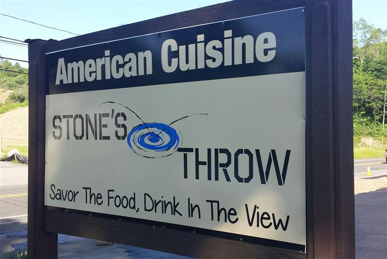 Stone's Throw street side sign