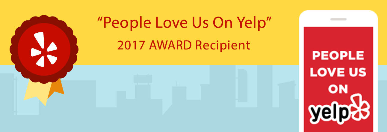 People love us on yelp 2017 award recipient.