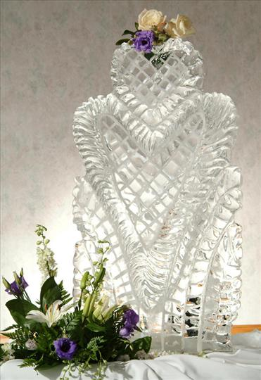 ice sculpture of heart
