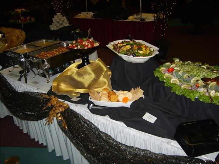 table of catered food