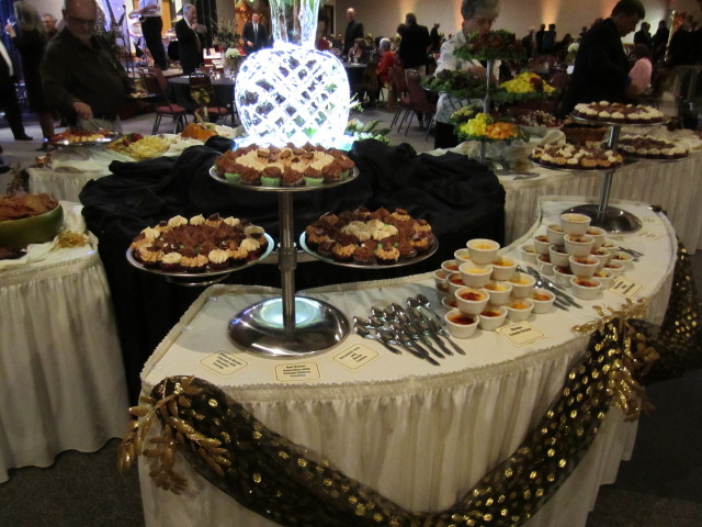 assorted desserts table display