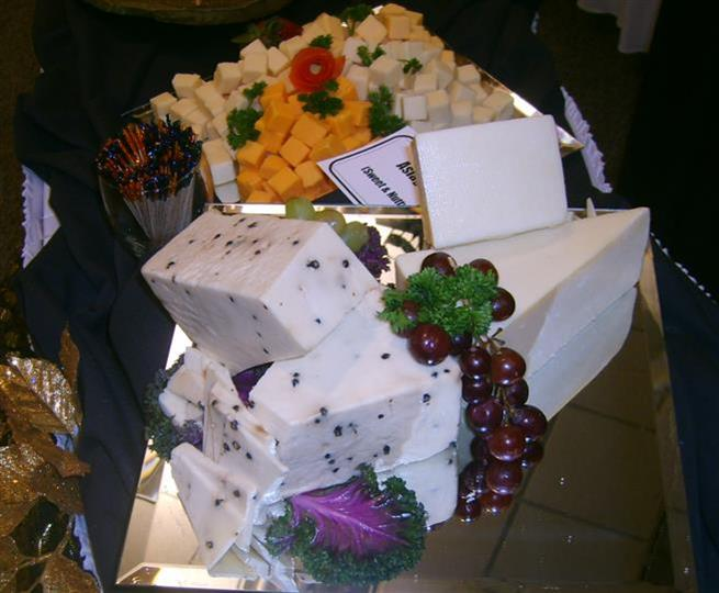 assorted cheese display