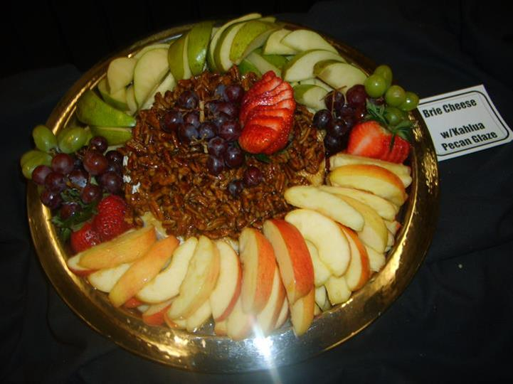 tray of fruit and nuts