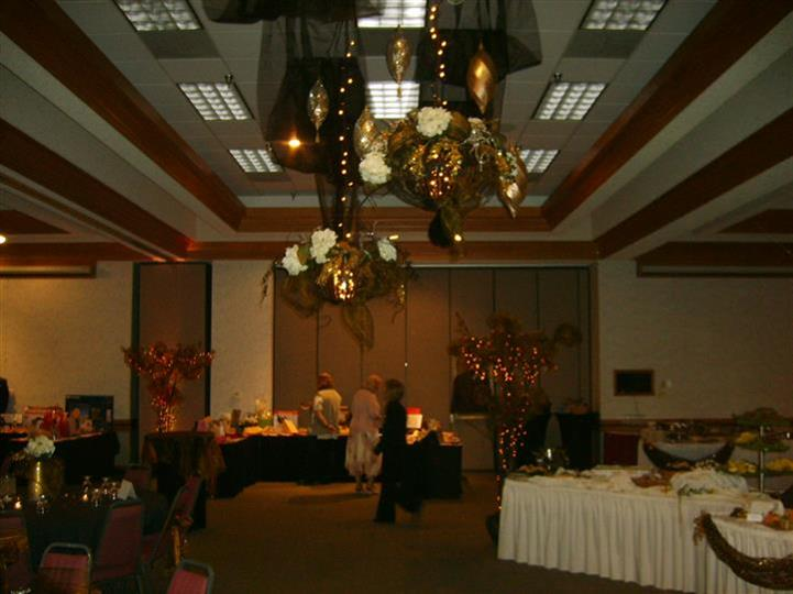 interior space decorated for event