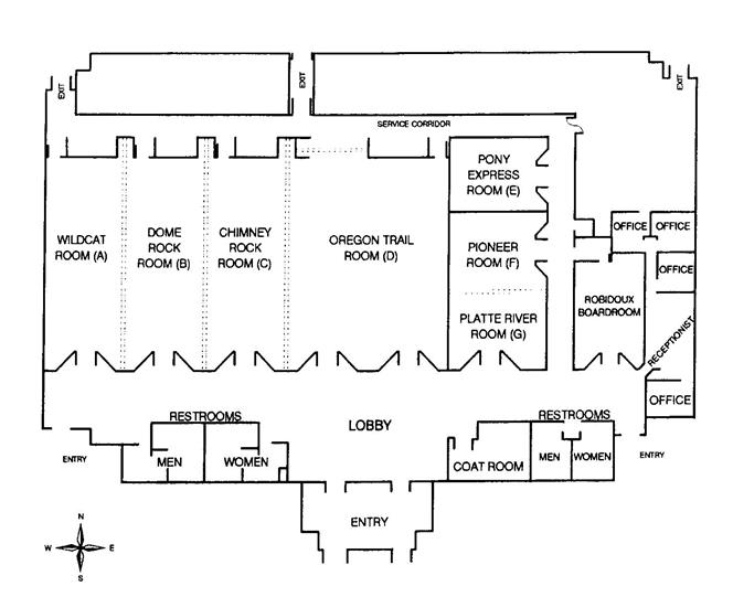 interior map of Gering Civic Center