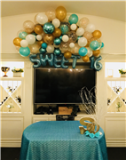 Sweet 16 decorated table with Balloons