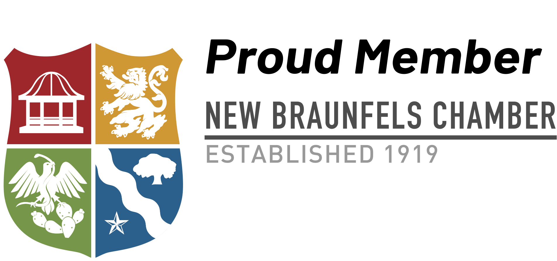 Proud Member - New Braunfels Chamber, Established 1919
