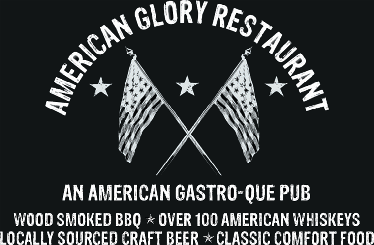 American Glory Restaurant. An American gastro-que pub. Wood smoked B B Q. Over 100 american whiskeys, locally sourced craft beer, classic comfort food.