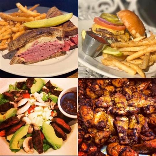 four different pictures with different entree in each one