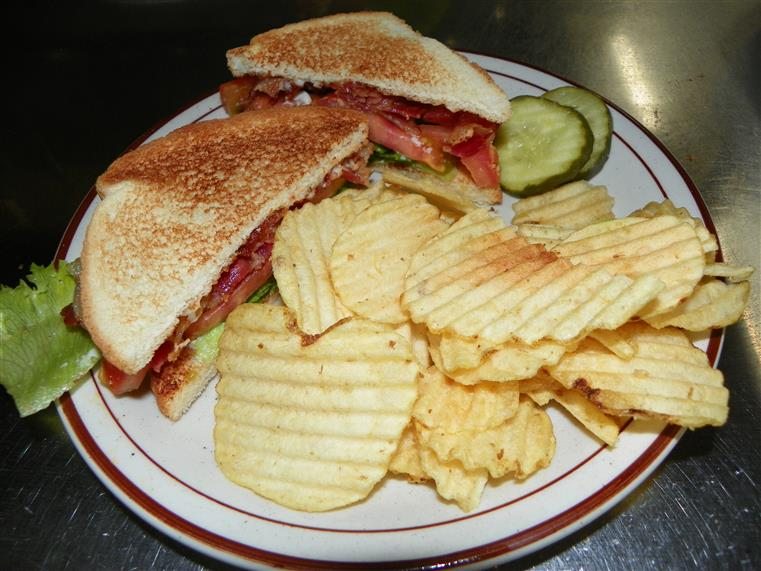 sandwich with potato chips