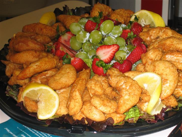 Fried Platter with Fruit in the center
