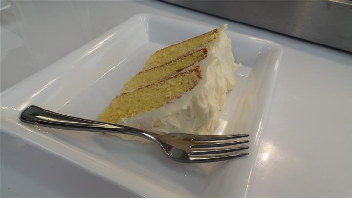 Slice of Cake with vanilla icing