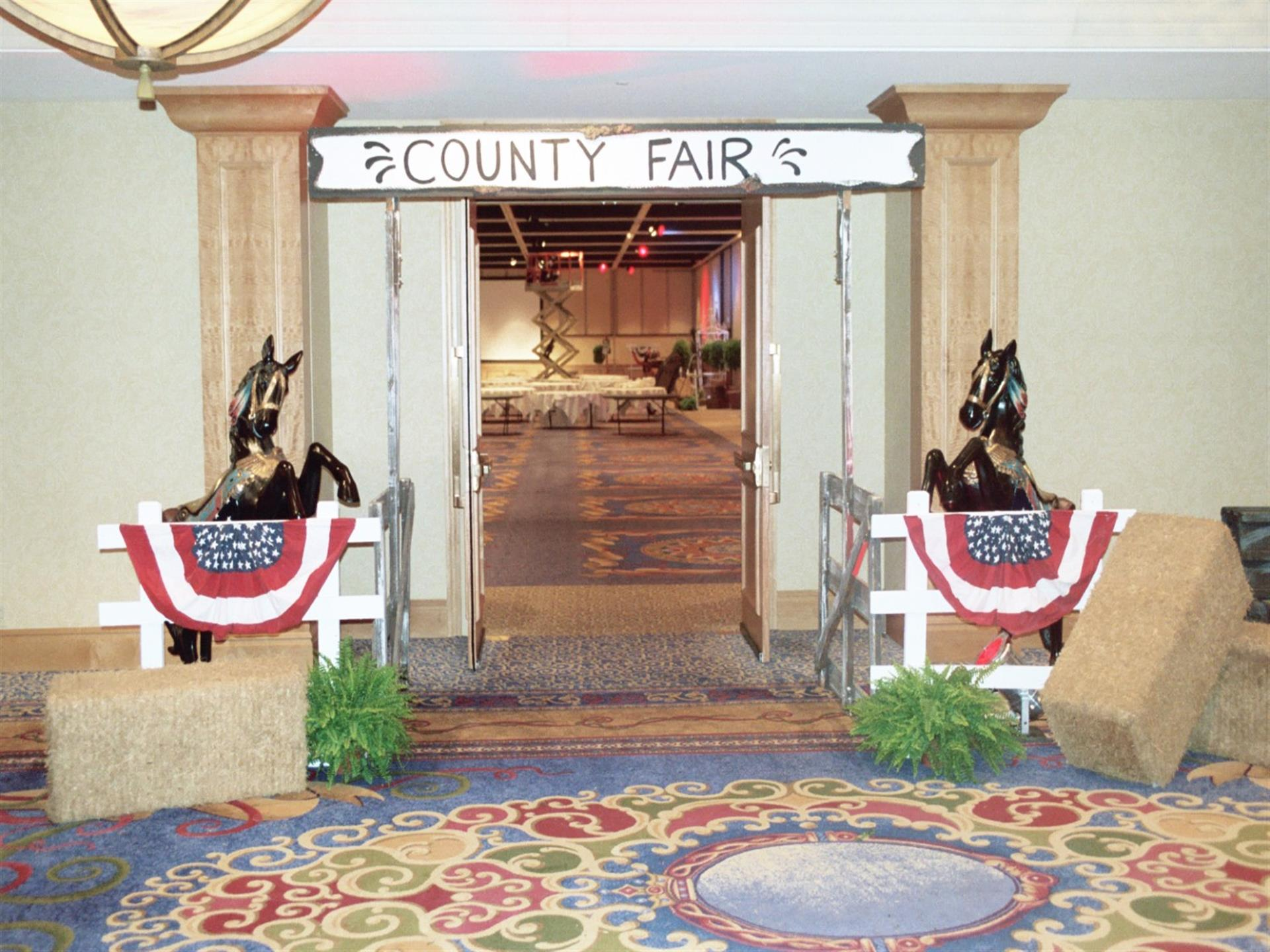 Country Fair decorative entrance to banquet room
