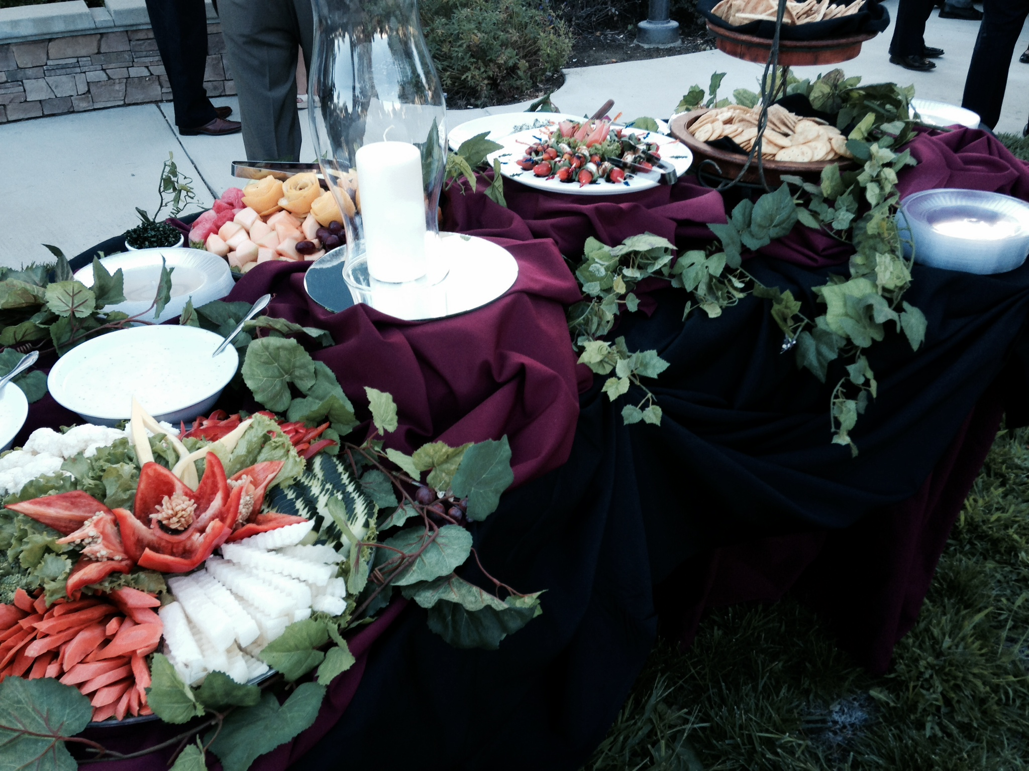 desserts on a catering table
