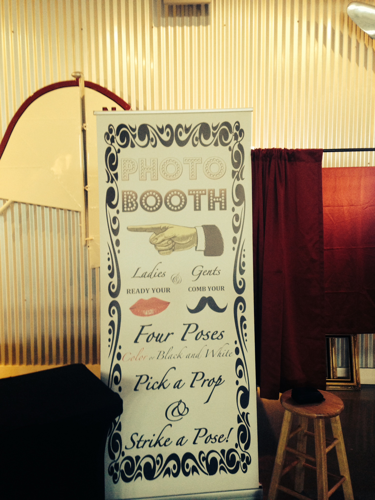 Sign for the photo booth