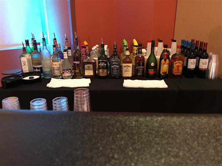 display of different liquor