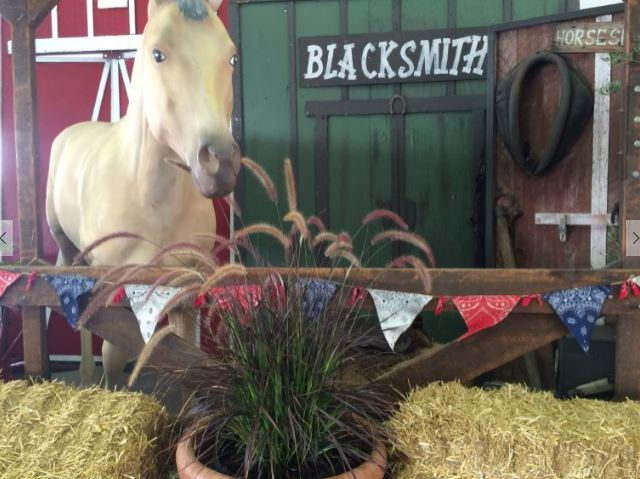 Fake horse at blacksmith display