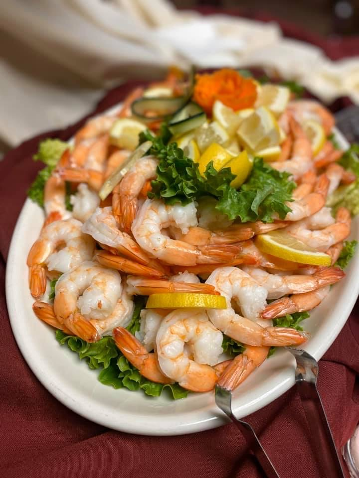 a plate of shrimp