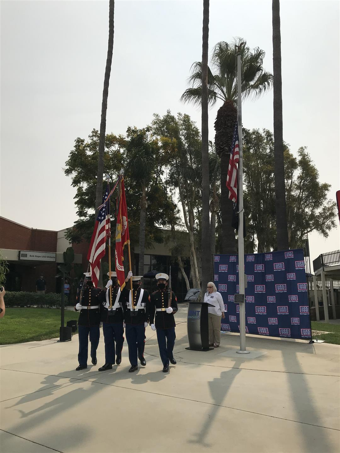 ", Impressions Gourmet Catering was proud to provide lunch for the Grand Opening of the new, ""Patriot Patio"" located at the Bob Hope USO, Ontario International Airport"