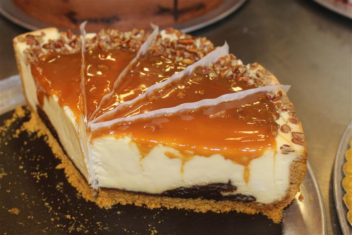 cheese cake topped with caramel
