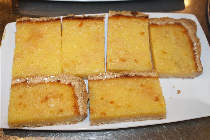 sweet bread cut into squares