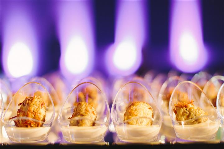 closeup of dessert in lightbulb