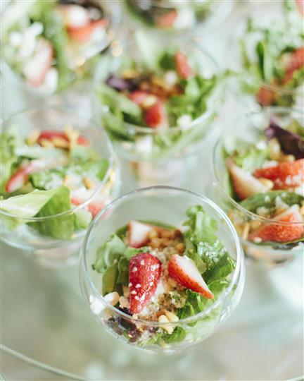 mini strawberry salads