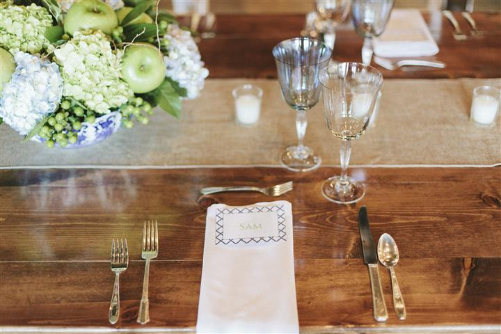 Glasses and place setting