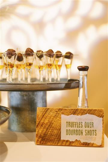 truffles over bourbon shots