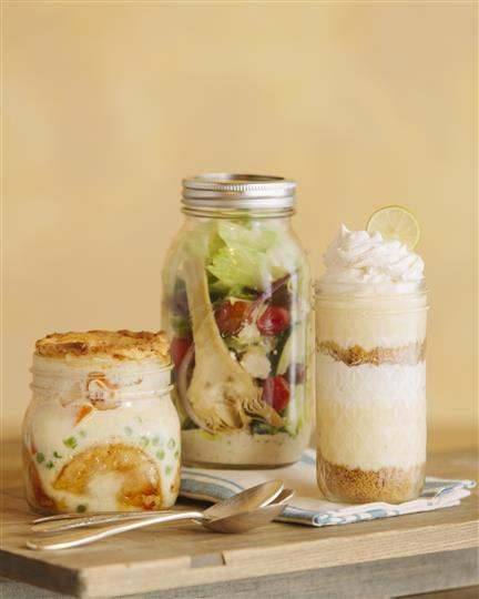 Mason jar with salad