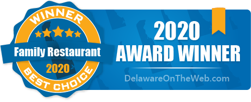 2020 Award Wiiner - Best Family Restaurant - DelawareOnTheWeb.com