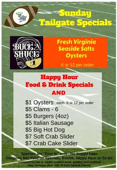 Sunday Tailgate Special 2017