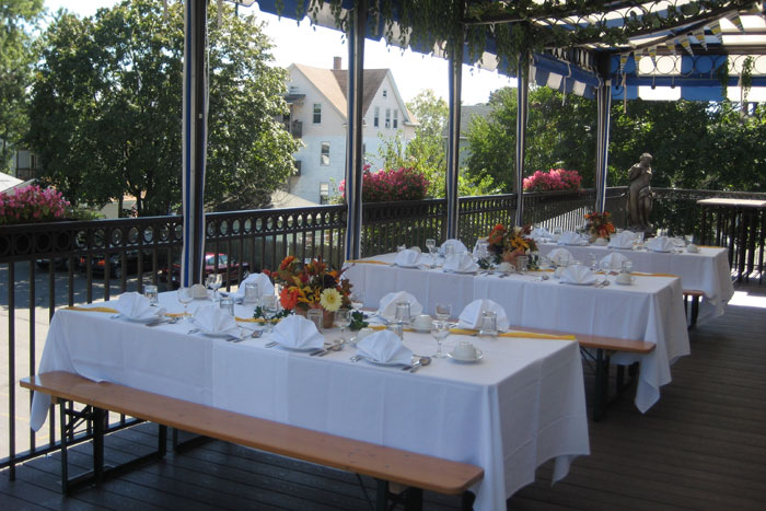 tables decorated outside