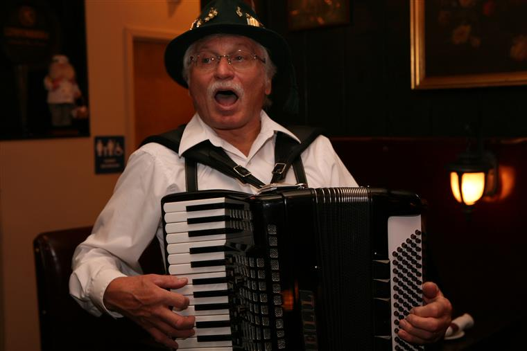 Walter Lawrence playing piano accordion
