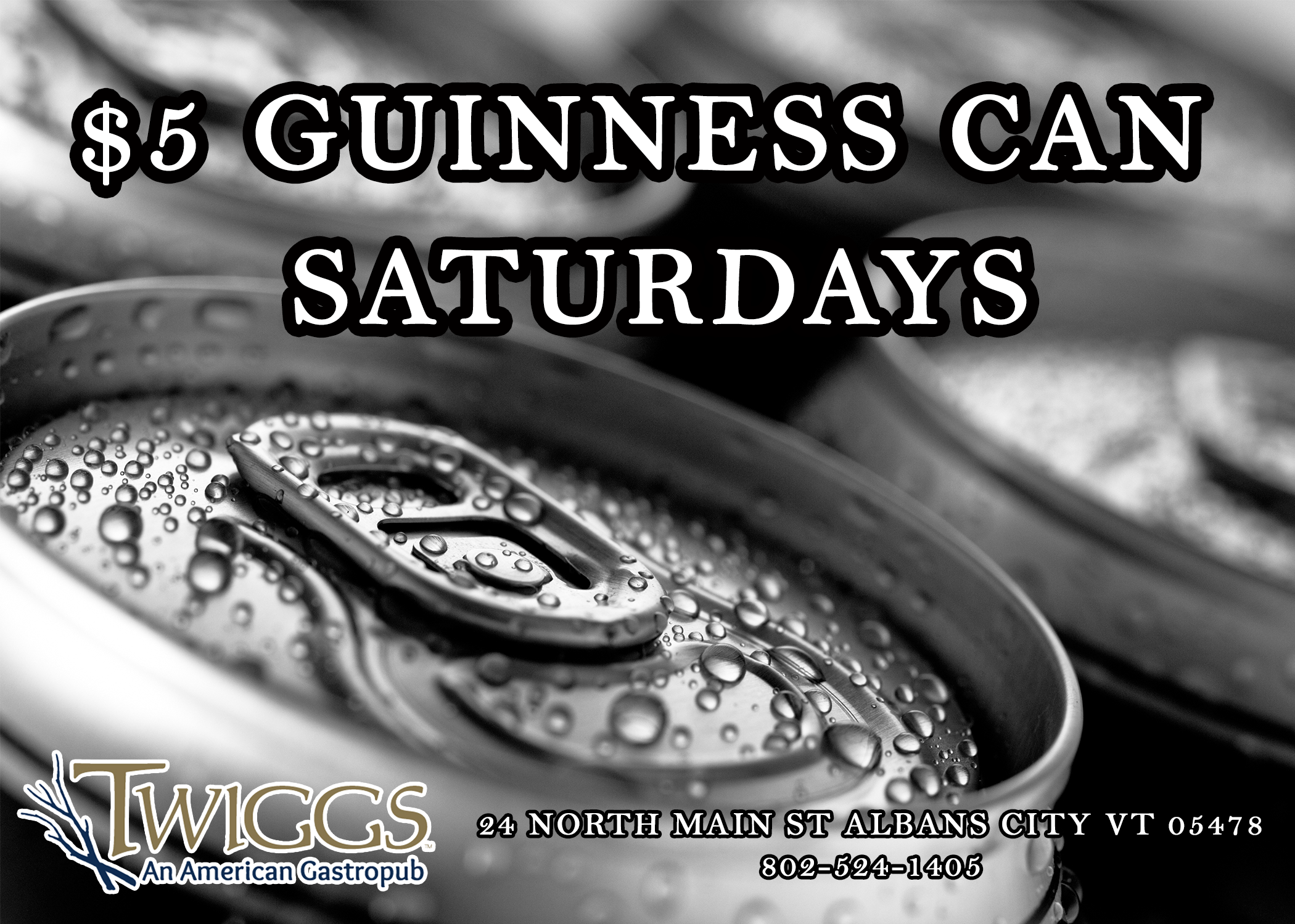$5 Guinness Cans Saturdays