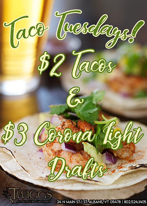 Taco Tuesday - $3 Tacos , $ 3 Corona Light Drafts