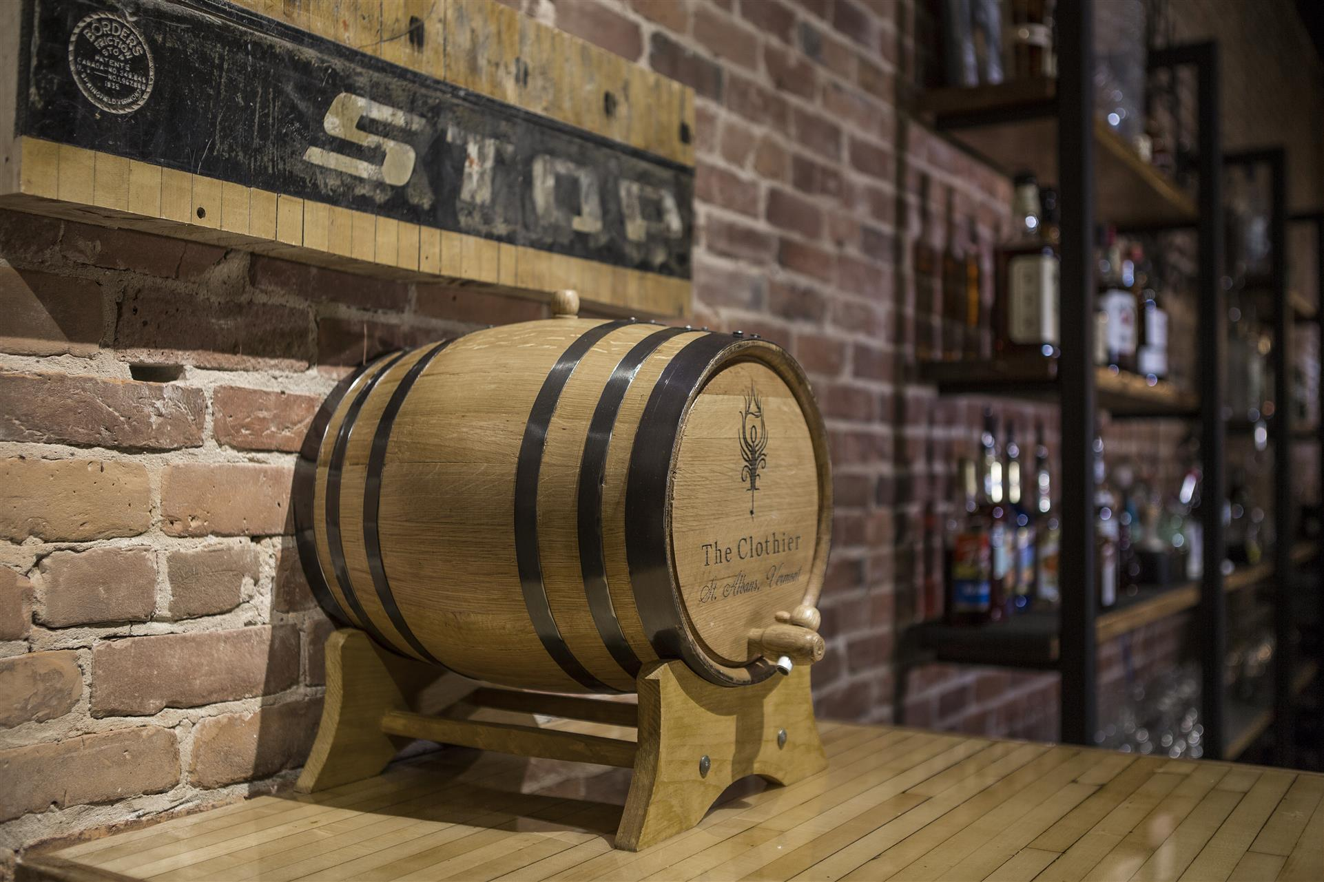 a wooden beer keg