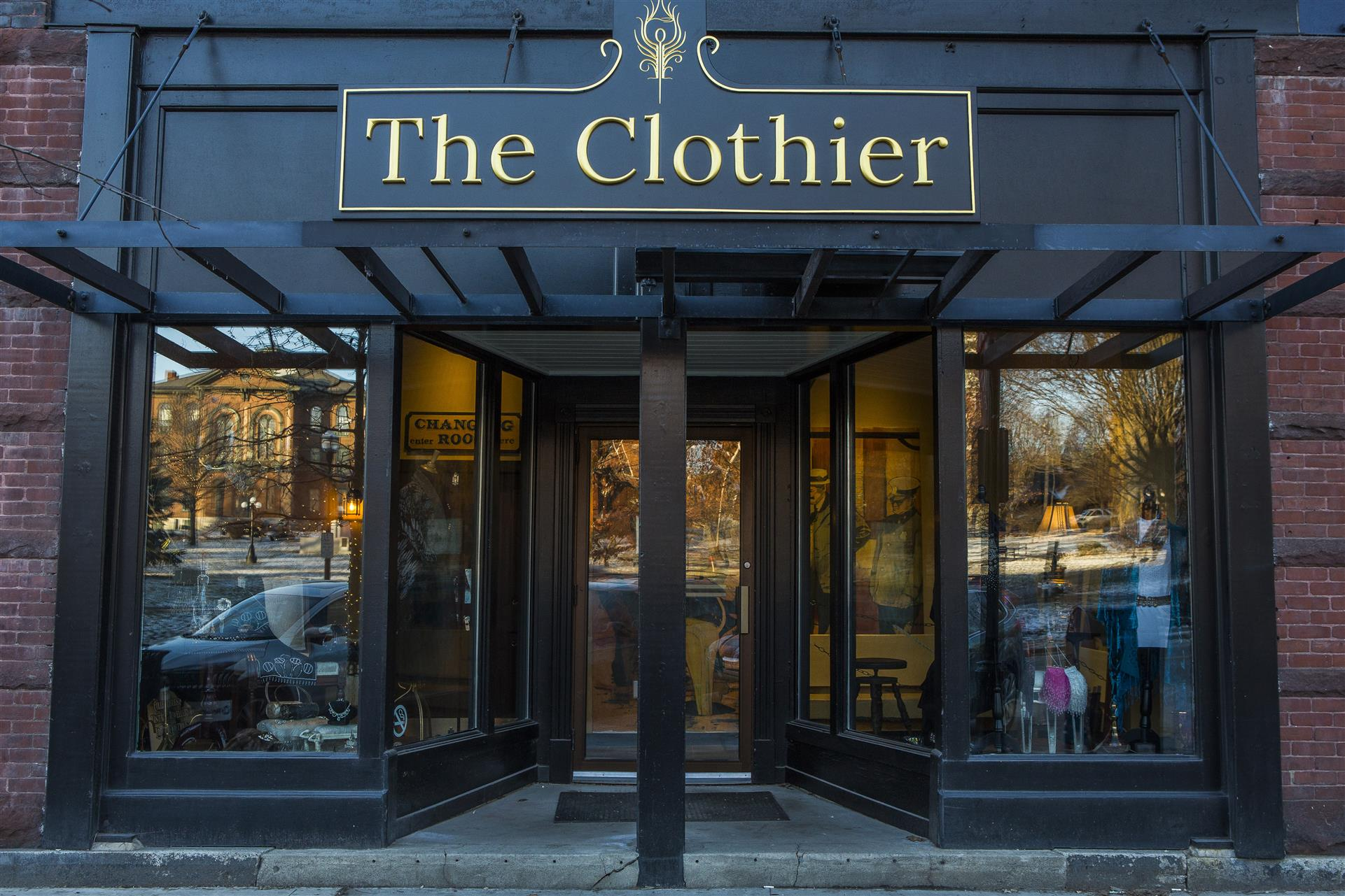 the front entrance of the clothier