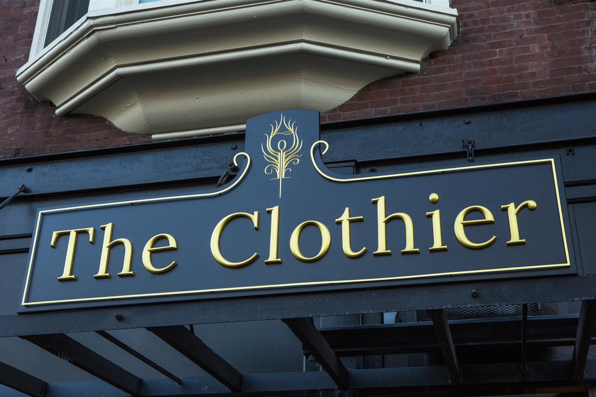 the clothier main entrance sign
