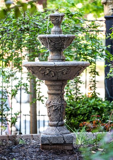 Outdoor concrete water fountain