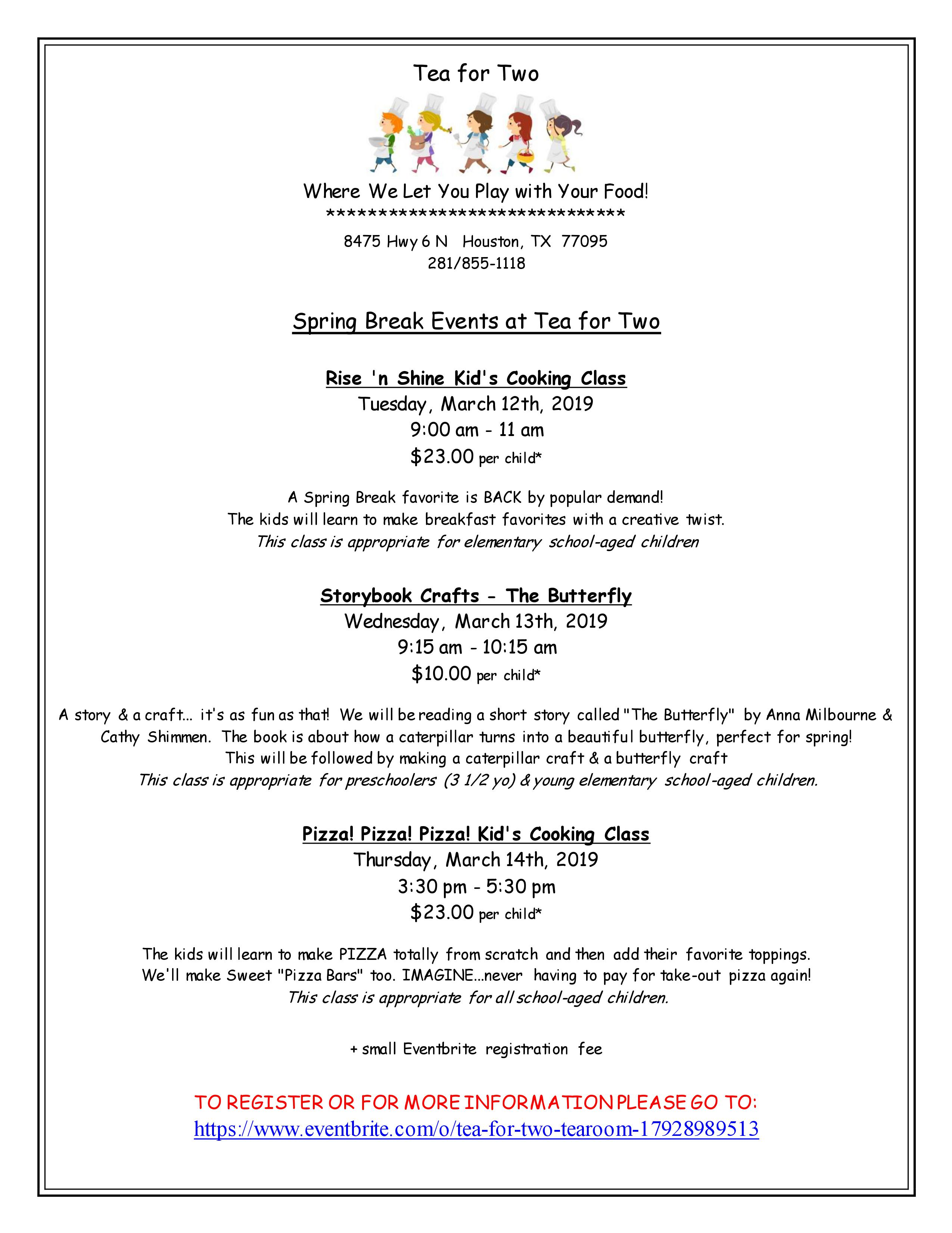 Tea For Two Event