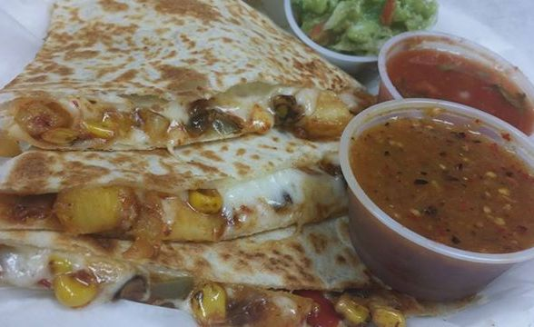 Quesadillas with dipping sauce