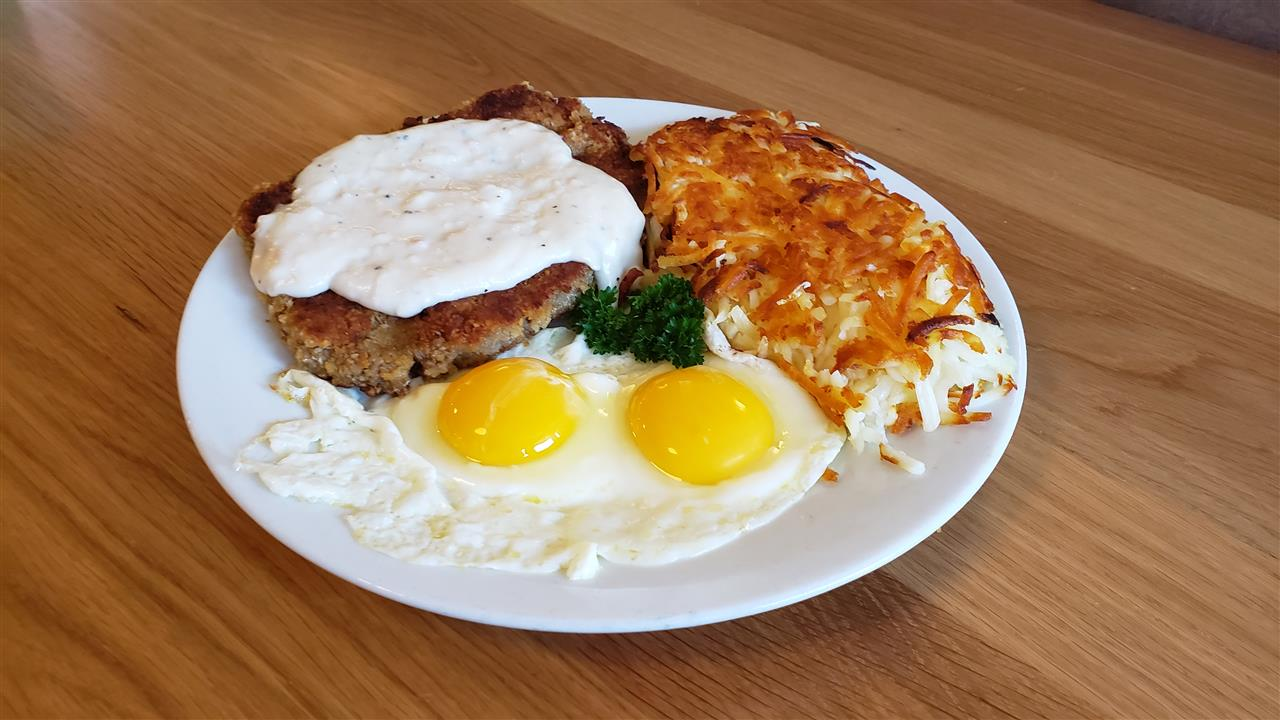 #13 Country Fried Steak & Eggs